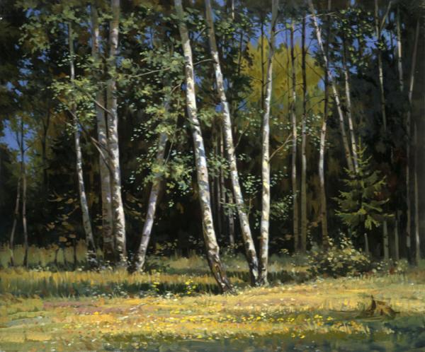 Петр Козорезенко. Берёзовый лес.