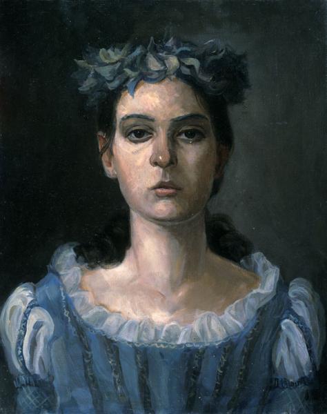 Петр Козорезенко. Портрет девушки в голубом.
