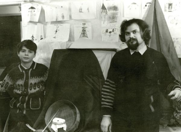 Петр Козорезенко. В мастерской.