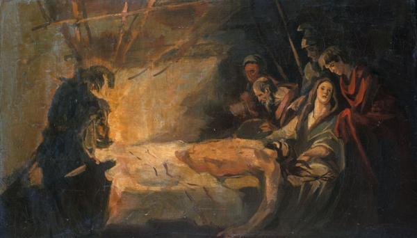 "Петр Козорезенко. Эскиз к картине ""Самсон и Долила""."