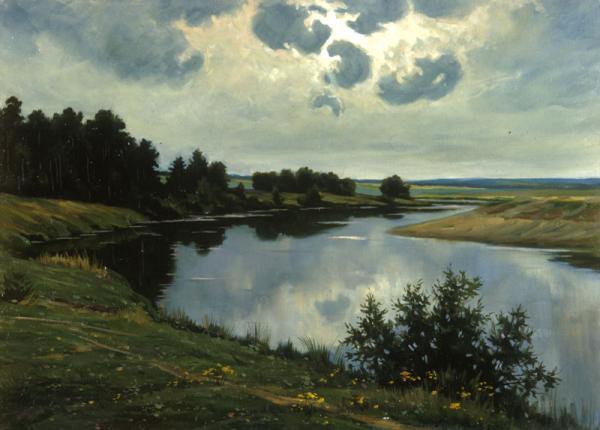 Петр Козорезенко. Тихая река. Утро.